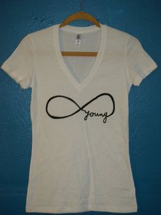 forever young infinity tshirt on Etsy