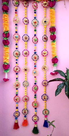 Yarn Crafts, Decor Crafts, Diy Paper, Paper Crafts, Diy Diwali Decorations, Diwali Diy, Etsy, Jewelry, Jewlery