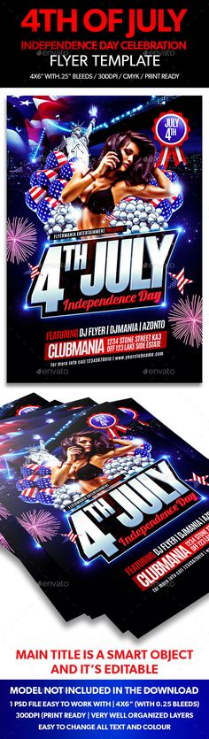 Independence Day Flyer Template Flyer template, Print templates - independence day flyer