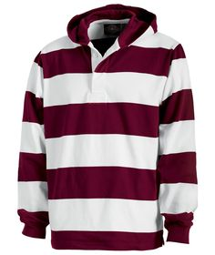 Rugby Hooded Pullover