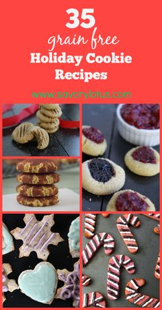 35 Grain Free Holiday Cookie Recipes - www.savorylotus.com #grainfree #glutenfree #cookies