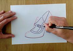 ¿Prefieres los zapatos de señora, con o sin correa? 👠  Un diseño de calzado de señora que nunca pasa de moda es este Mercedes.  Con el CURSO ONLINE de Diseño de calzado aprenderás ha realizar los diseños que más te gusten. 📝  Vídeo COMPLETO en YouTube 📺 ⬇