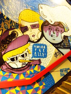 Amazing graffiti in an U-Bahn station in Berlin. Berlin Graffiti, Graffiti Art, U Bahn Station, Street Art, Illustration Art, Fine Art, Amazing, Viajes, Visual Arts