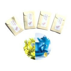 Brewed #Jasmine Drawer #Sachets - Jasmine Wedding Favors - Candle Fragrance Packets - #EtsyFloral Scent for Bedroom - Yellow Blue Tropical Modern, $12.00
