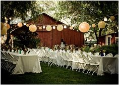 Love the hanging globe lantern thingies. But in Navy, White and Gray