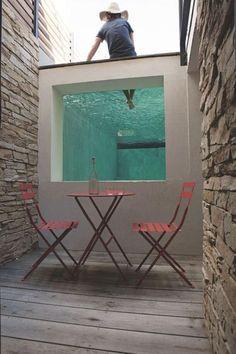 aménagement extérieur, piscine hors sol originale