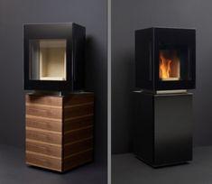 Minimalist Eco-Friendly Pellet Stove by Gabbaan | Interior Design