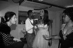 Kelly, Sarah, Mel and Nthato backstage at The Lyric, 2012 Page Turner, Backstage, New Books, Public, Product Launch, Relationship, Princess, Formal Dresses, Celebrities