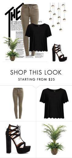 """No.1"" by elmat-92 ❤ liked on Polyvore featuring Topshop, Aquazzura, NDI and Sonneman"