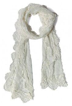 Retro Lace Crochet Scarf