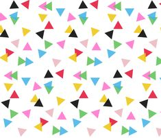 Triangle Confetti Transparent fabric by a_joyful_riot on Spoonflower - selbstentworfener Stoff
