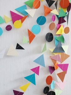 geo shape garland for school decor