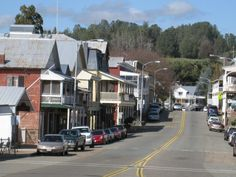 "This is downtown Sutter Creek, Ca. commonly referred to as the ""Jewel of the Mother Lode"" and is a California Historic Landmark. From GoldCountryWineTours.com"