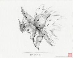 "Volcarona - 8 x 10"" print (pokemon drawing, art, artwork, gaming, nintendo, decor)"