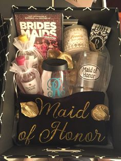 Will you be my Maid of Honor box