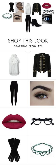 """""""Dove's outfit: Narnia's Princess"""" by doledroid ❤ liked on Polyvore featuring beauty, WithChic, Yves Saint Laurent, Pepper & Mayne, Huda Beauty and Armani Collezioni"""