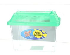 Playful Pets Small Animal Keeper Clear Plastic Tank with Ventilated Lid - http://www.petsupplyliquidators.com/playful-pets-small-animal-keeper-clear-plastic-tank-with-ventilated-lid/
