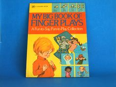 My Big Book of Finger Plays Book - Vintage Retro Hardcover 1974 A Golden Press Book A Fun to Say Fun to Play Collection Printed in USA by FunkyKoala on Etsy Great Books, My Books, Finger Plays, Bbc Tv, Retro Illustration, Little Golden Books, Retro Vintage, Activities, Sayings