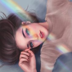face illustration – Art Drawing Tips Digital Art Girl, Digital Portrait, Portrait Art, Fille Blonde Anime, Art Anime Fille, Anime Art Girl, Anime Girls, Cute Girl Drawing, Cartoon Girl Drawing