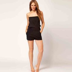 7f2dd568534 shorts jumpsuit Picture - More Detailed Picture about 2017 summer party  sexy cute fashion slim cotton solid color sleeveless XS XXL black women  Casual ...