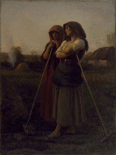 """The Close of Day"" by Jules Adolphe Aimé Louis Breton (1865) at the Walters Art Museum, Baltimore"