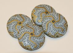 Hollandais Batik Fabric Covered Buttons