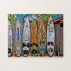 Shop Aloha Y'All Puzzle created by DJsParadise. Makawao Maui, Hawaii Usa, Animal Skulls, Island Life, All Art, Surfboard, Pink And Green, Jigsaw Puzzles, Tropical