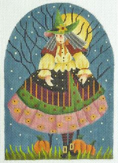 Melissa Shirley Old Witch Handpainted Needlepoint Canvas | eBay $22.50