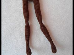 Sexy doll leg crochet tutorial / pretty doll crochet / doll body - YouTube
