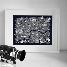 central london film map by run for the hills | notonthehighstreet.com