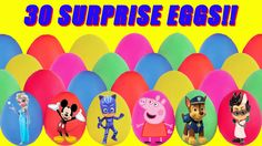 30 Play-Doh surprise eggs full of toy surprises are going to be opened! Our eggs have Disney and Nick Jr. characters and even Disney movie characters! We have PJ Masks Paw Patrol Peppa Pig Bubble Guppies Finding Dory Secret Life of Pets Teen Titans Finding Dory and more! Maybe we will even find a Mickey Mouse from Mickey Mouse Clubhouse. Watch to see what surprises are inside!  Subscribe here to never miss a video: https://www.youtube.com/channel/UCsRW8ikkc-uISUXtNKBfFcw?sub_confirmation=1…