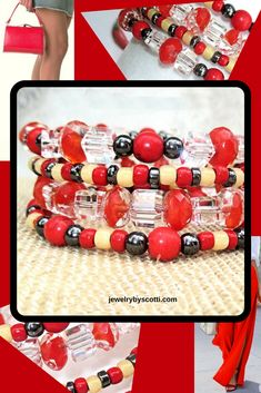 """Shop now: https://www.etsy.com/listing/277579814/  Get the party started with this bold, bright, dazzling """"Hot Peppers"""" multicolor stone bracelet. The glass cube beads pick up light and reflect it in every direction for a truly dazzling look. Jazz up that little black dress or take that little red dress to the next level. Make a statement as bold as hot red peppers. Pass the salsa! #jewelrybyscotti #handmadebracelets"""