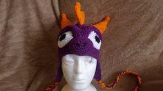 Crochet Spyro (Skylanders) Adult Sized Hat ~ free pattern