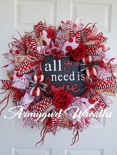 Check out this item in my Etsy shop https://www.etsy.com/listing/584676357/valentine-wreath-valentines-wreath