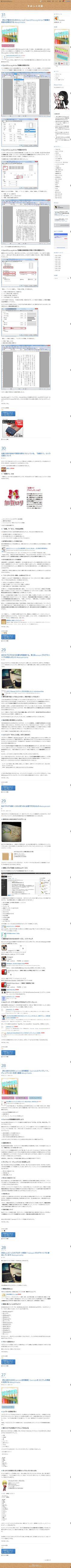 すみっこの記 Blog, Blogging