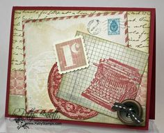 Travel Journal wheel and Fan Fair vintage postcard