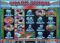 Shark School is a 5 reel, 50 payline, Real Time Gaming or RTG non progressive video slot machine. More this way... http://www.casinocashjourney.com/realtime-gaming-slots/shark-school.htm
