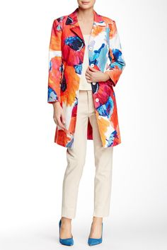 Floral Print Coat by Trina Turk on @HauteLook