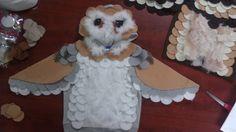 handmade kids halloween barn owl costume hoodie 12m- 5T w/ feathers, big wings. $59.00, via Etsy.