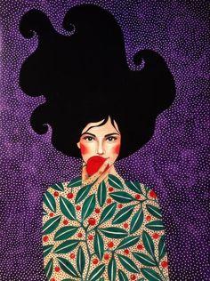 Por amor al arte: Hülya Özdemir Art And Illustration, Illustrations, Portrait Art, Portraits, Belle Photo, Female Art, Art Inspo, Painting & Drawing, Art Girl