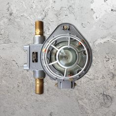 E2 Contract Lighting | Products | Salvaged Wall Light CLB-00416 | UK | Salvaged Wall Light, is a vintage reclaimed metal and glass wall light.