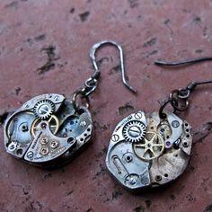 Oval Watch Earrings Small II  by Molly Condit