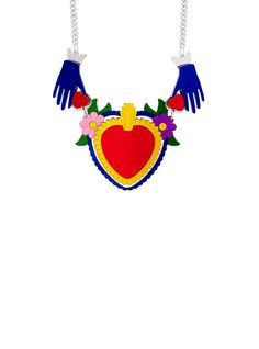 Luckily for you, we have loads more original art jewellery. Devine Love, Tatty Devine, Wedding Colors, Wedding Ideas, Sacred Heart, Bridal Accessories, Some Fun, Laser Cutting, Jewelry Art
