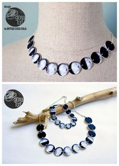 DIY Shrink Plastic Phases of the Moon Necklace and Bracelet...