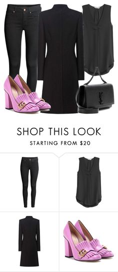 """Sin título #1676"" by greta-greta ❤ liked on Polyvore featuring Alexander McQueen, Gucci and Yves Saint Laurent"