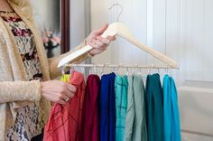 Use shower rings to hang scarves.