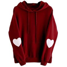 Plus Size Sweatshirt,Goddessvan Womens Casual Long Sleeve Heart Hoodie... (37 RON) ❤ liked on Polyvore featuring tops, hoodies, jackets, womens plus size tops, red top, red hooded sweatshirt, plus size hoodie and women's plus size hooded sweatshirts