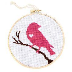 Bird with Heart Cross-Stitch Kit by Kattuna | Project | Sewing | Cross Stitch / Decorative | Kollabora