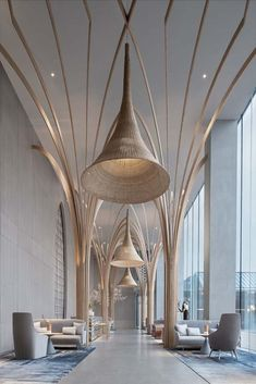 restaurant interieur Discover all the design news - Design Entrée, Lounge Design, Design Room, Design Trends, Blog Design, Lounge Decor, Hotel Lobby Design, Modern Hotel Lobby, Architecture Design