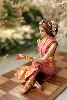 Beautiful art doll, Indian or Hindu woman?